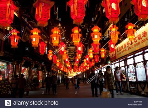 shopping in shanghai during new year lantern during the new year at yuyuan garden