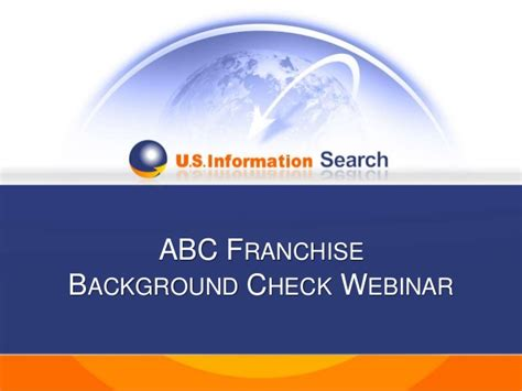 Background Check Franchise Abc Franchise Background Check Webinar