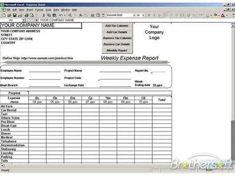 Expense Report Spreadsheet by Image Gallery Expense Sheets