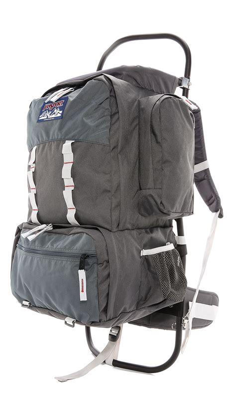 lyst jansport scout backpack in gray for