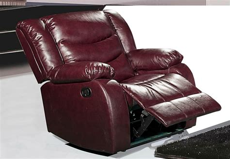 maroon leather recliner 644burg burgundy leather rocker reclining chair with