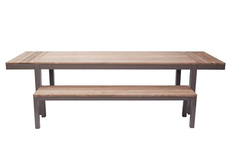 Reclaimed Dining Table by Reclaimed Garden Dining Table Bau Outdoors