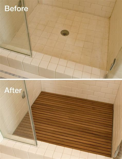 teak tiles bathroom adding teak to your shower floor instantly upgrades the
