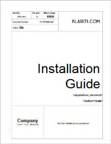 manual template word installation guide template ms word instant
