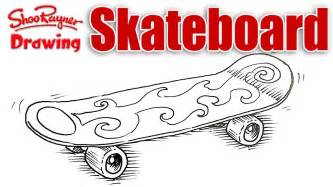 draw a deck how to draw a skateboard spoken tutorial