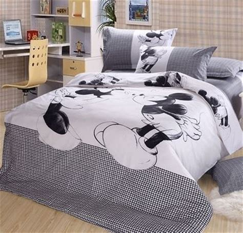 mickey mouse bed linen luxury mickey minnie mouse 4pc bedding sets