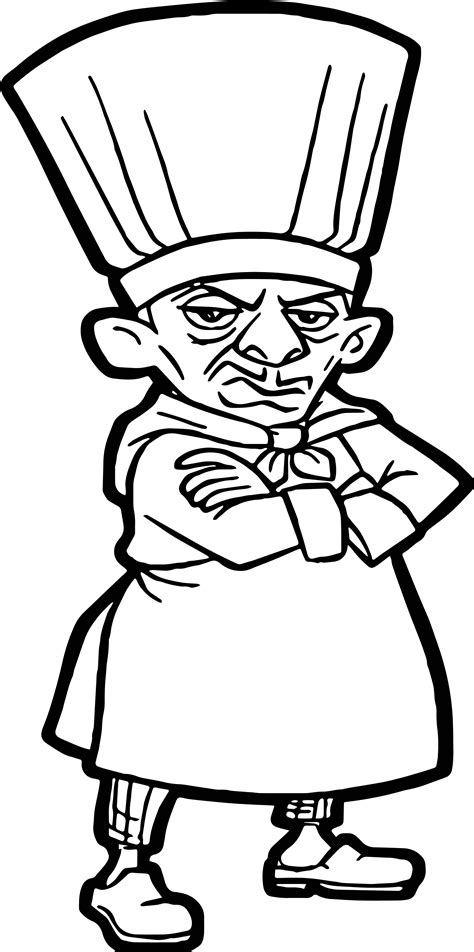 ratatouille chief skinner coloring pages wecoloringpage