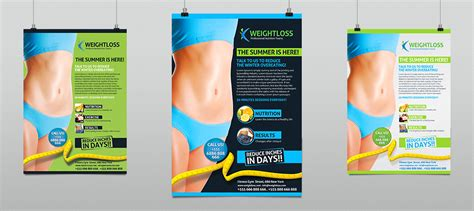weight management brochure weight loss fitness business flyer hollymolly