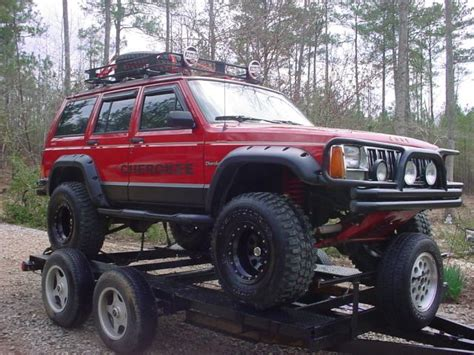 lifted jeep red jeep xj lifted red www pixshark com images galleries