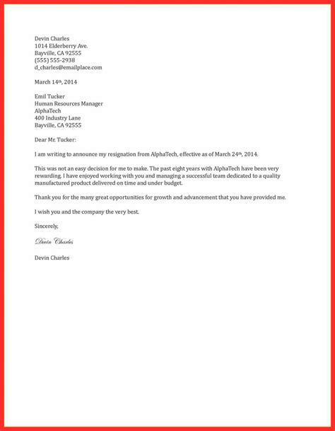 proper 2 weeks notice resume format