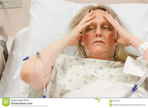 cancer woman in bed sick woman in hospital stock photo image 56375706
