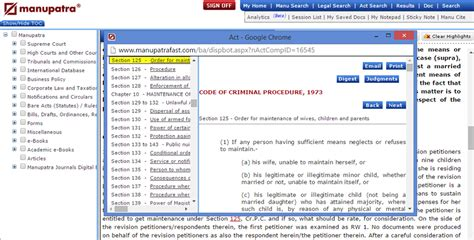 section 125 of code of criminal procedure bare acts clicking on bare acts will take the user to a