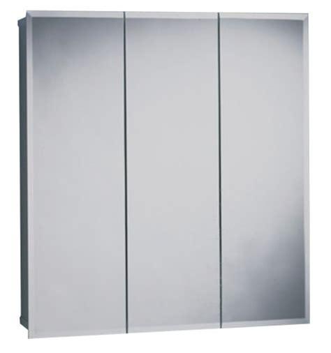 Tri View Medicine Cabinet Zenith Products M24 Beveled Tri View Medicine Cabinet