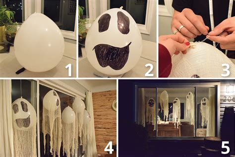 how to make balloon ghost halloween ceiling decorations ehow home decorating diy how to make a halloween balloon ghos