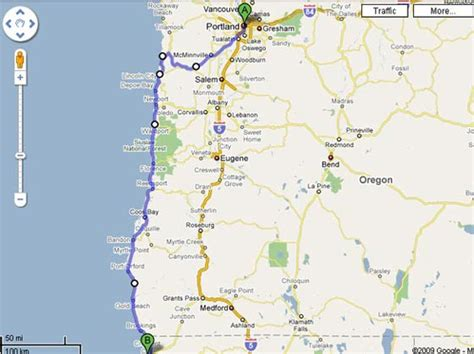 map of oregon 101 maps of hwy 101
