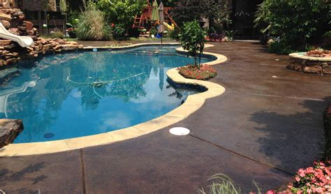 pool deck colors pool deck stain ideas concrete craft