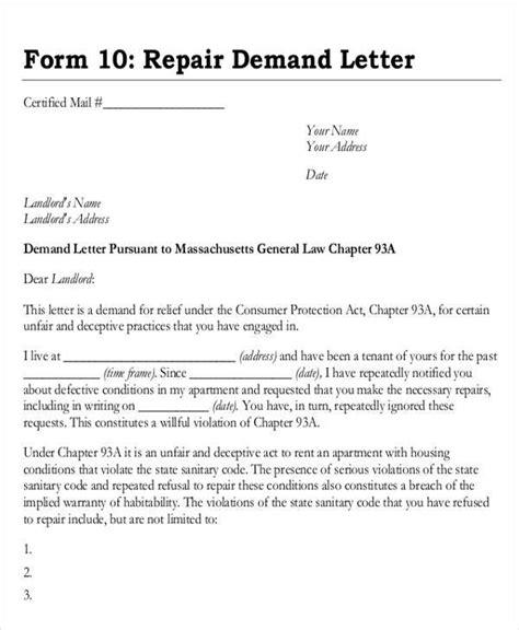 Demand Letter For Goods demand letter exles
