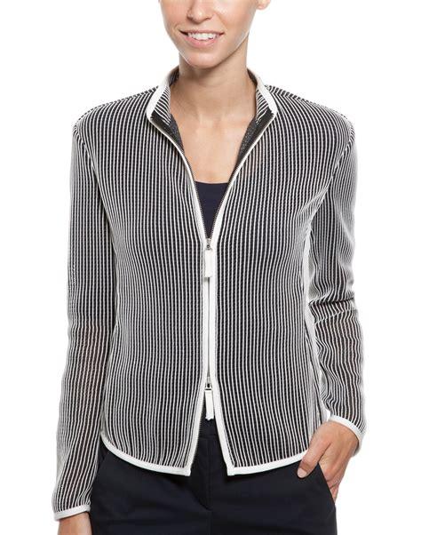 Armani Collezioni New Orleans Piccola Purse by Open Weave Striped Jacket Armani Collezioni Halsbrook