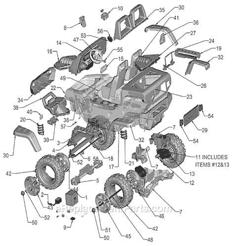Jeep Power Wheels Parts Power Wheels J4395 Parts List And Diagram