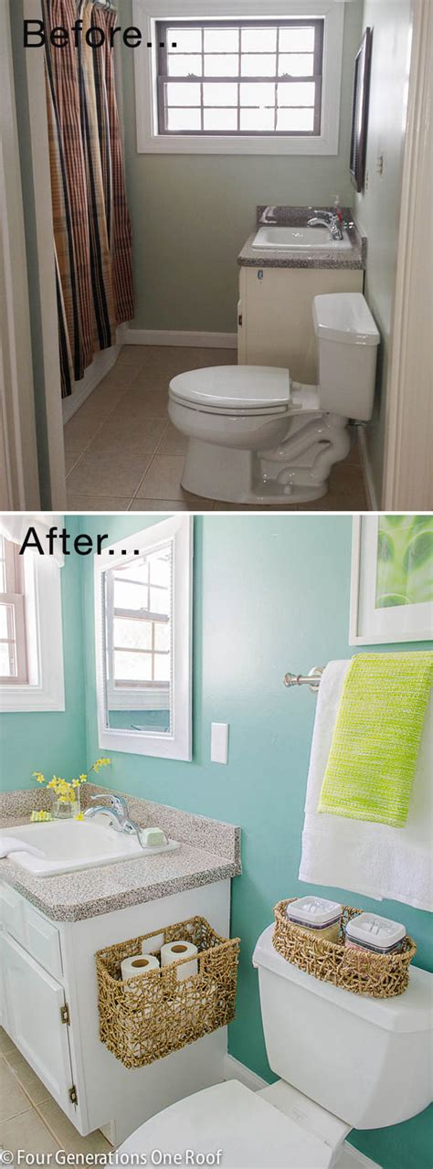 easy bathroom makeover ideas small bathroom ideas makeovers decorating your small space