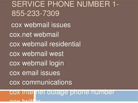 Cox Phone Number Lookup 1 855 233 7309 Cox Webmail Customer Service Phone Number