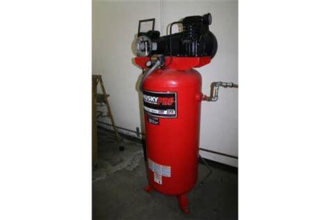 1 used husky pro air compressor 60 gallon model vt631402aj serial l 8 8 05 83040 wired for
