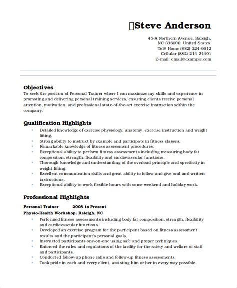 resume format for personal personal resume template 6 free word pdf document