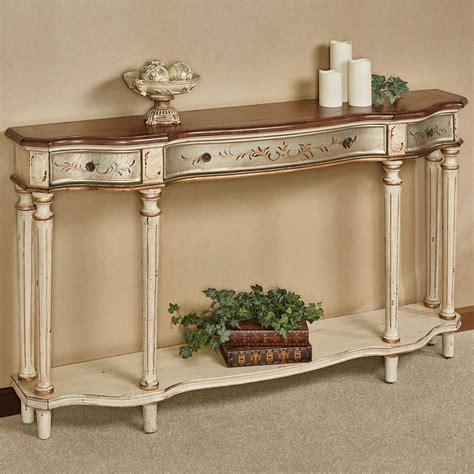 wide sofa table hillcrest wide console table with drawers