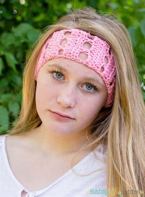 Pink Headband Pattern   pink headband free crochet pattern melody s makings
