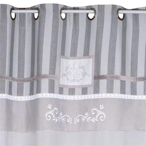 rideau 140 x h250 cm chic gris rideaux eminza