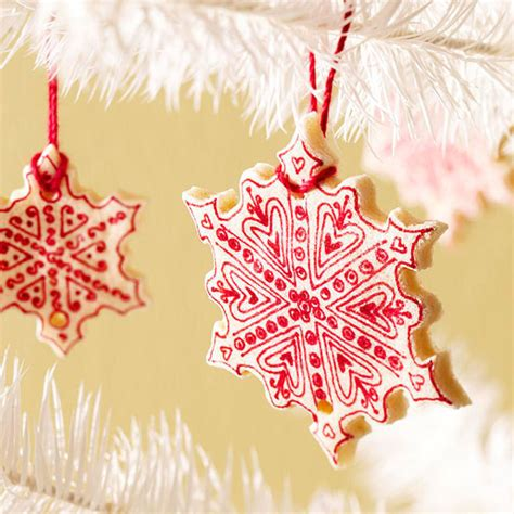 salt dough cookie snowflake ornaments pictures photos
