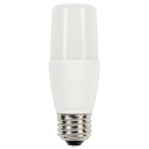 Led Light Bulbs 60w Westinghouse 60w Equivalent Cool Bright 3000k T7 Medium Base Dimmable Led Light Bulb 0516100