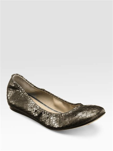 vera wang flats shoes vera wang lavender snakeembossed leather ballet flats in