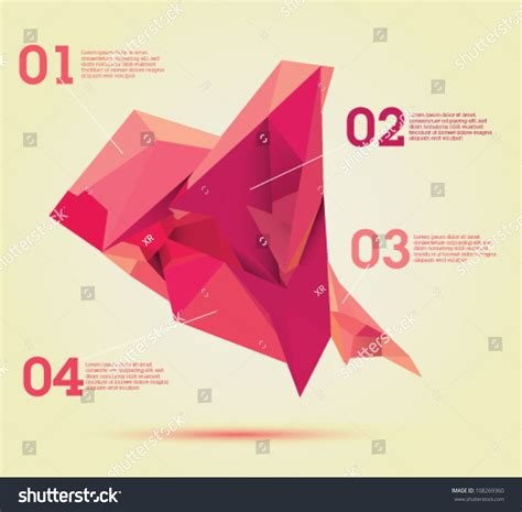 layout editor convert to polygon red polygon chart infographics template design useful