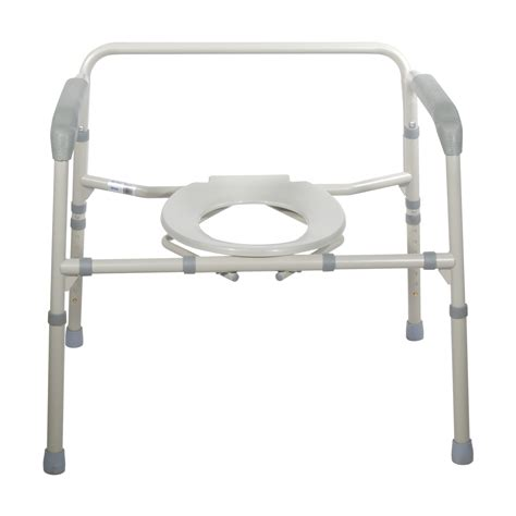 heavy duty bariatric folding bedside commode chair 11117n