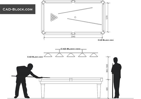 Where To Buy Dining Room Furniture by Billiard Cad Blocks Autocad Drawings For Free Download