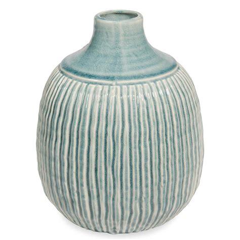 vasi maison du monde vaso sferico in ceramica h 26cm stries maisons du monde