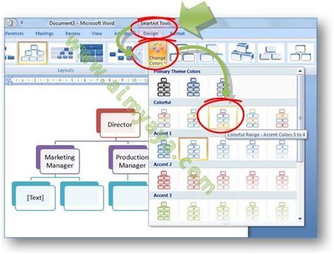 cara membuat struktur organisasi menggunakan smartart cara mempercantik struktur organisasi dengan warna dan