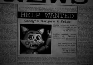 Five nights at candy s official help wanted by thesitcixd on