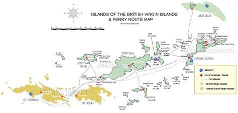 virgin islands outline map