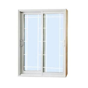 Sliding Patio Doors Home Depot Stanley Doors 60 In X 80 In Sliding Patio Door With Prairie Style Grill 500002