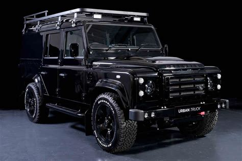 land rover defender black land rover defender gets tricked out by urban truck