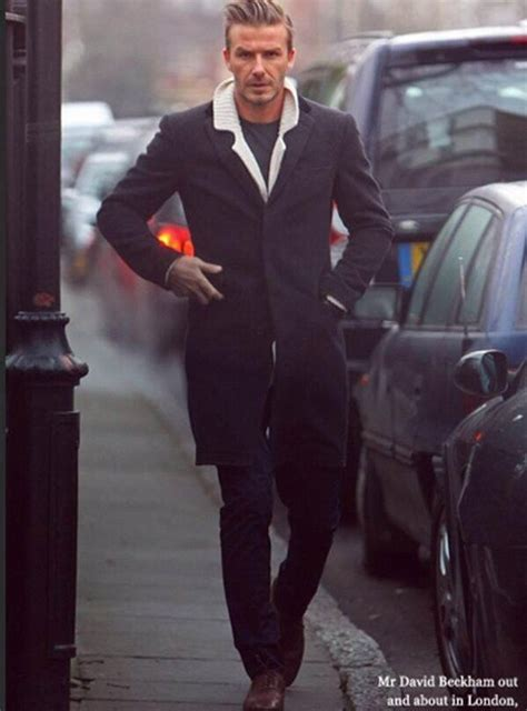 David Beckham Wardrobe by David Beckham Wearing A Crombie Overcoat View Our