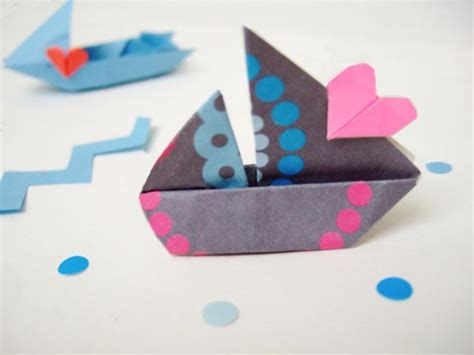 San Boat Origami - barcos de papel para manualidades con ni 241 os escarabajos