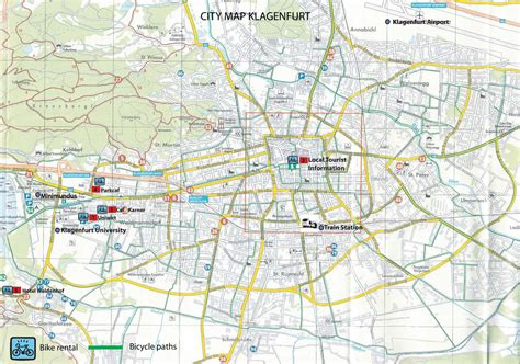 klagenfurt map klagenfurt bike map
