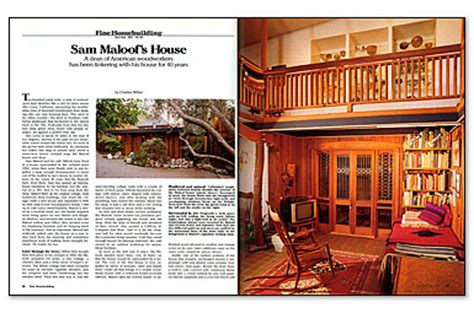sam maloof house sam maloof s house fine homebuilding