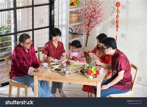 reunion dinner on new year new year reunion dinner stock photo 335900795