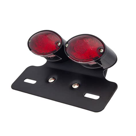 red light for cats cat eye twin black led tail light red lens third gear
