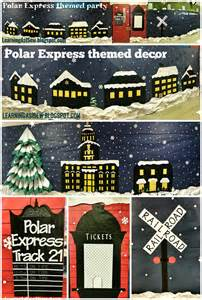 Craft Room Decorations - learning as i sew bake cut and create polar express themed decor