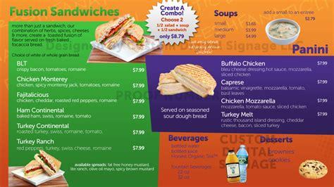 Salad Works Digital Menu Board Template Digital Restaurant Menu Sle Digital Menu Board Digital Menu Board Templates